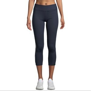 Tory Sport • Retro side stripe crop leggings